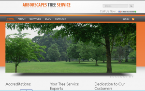 Arborscapes Tree Service Website
